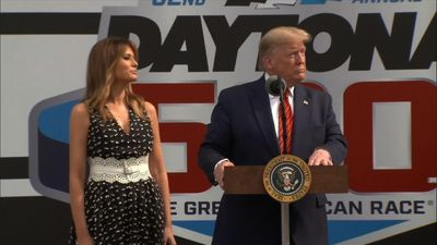 Trump serves as grand marshal for Daytona 500