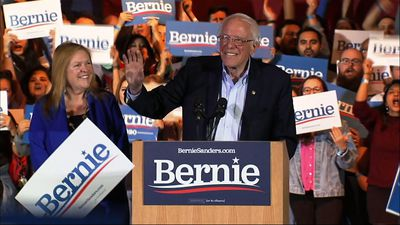 Sanders celebrates win in Nevada caucuses