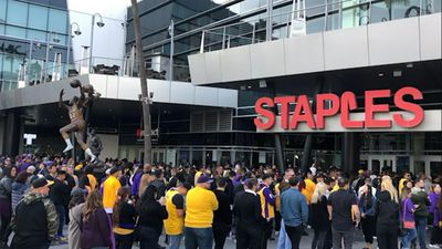 Kobe Bryant fans line up for memorial service in LA