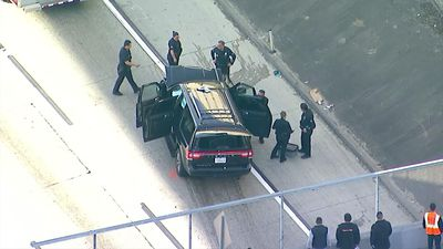 Crash ends chase of stolen hearse with body inside