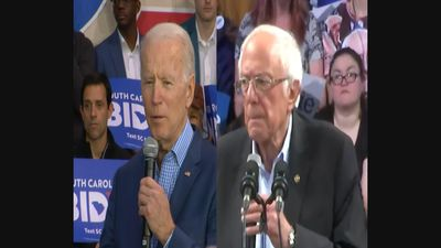 Sanders and Biden dispute who can win