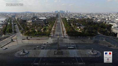 Drone shows empty Paris streets in virus lockdown