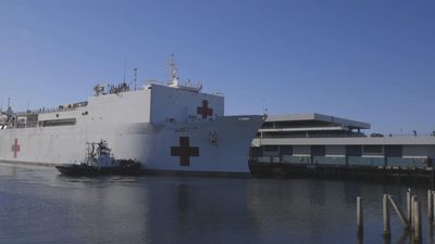 Hospital ships begin treating non-virus patients