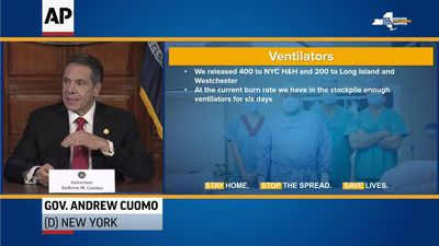 Cuomo: New York has six-day supply of ventilators
