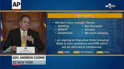 Cuomo to sign order to redeploy ventilators