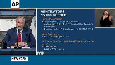 NYC police cleared to seize unused ventilators