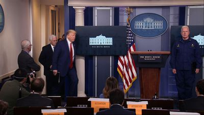 Trump's near-daily virus briefings under scrutiny
