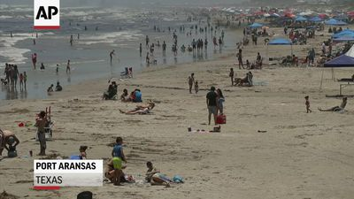 Beachgoers pack Texas seafront as lockdown eased