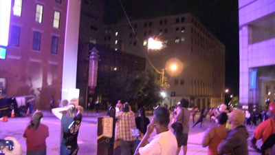 Protesters pepper-sprayed in Columbus