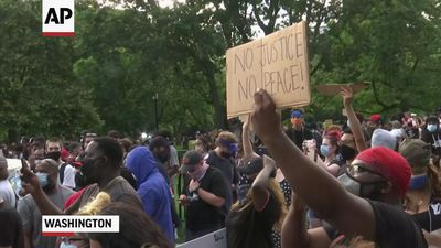 Protest near White House over George Floyd's death