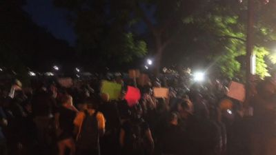 Protests, tear gas and fires in Washington, DC