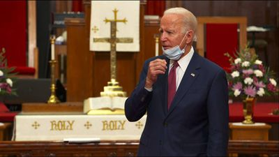 Biden meets with community leaders at DE church