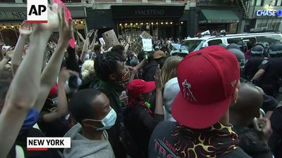 Peaceful protest in NYC ahead of curfew