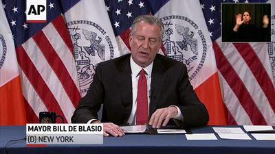 NYC mayor condemns attack on police officers