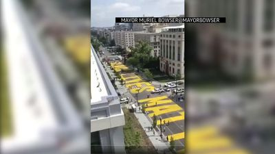 Huge 'Black Lives Matter' painted on road near WH