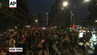 Protesters defy New York curfew to march for Floyd