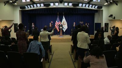 Pence tells 'family story' to naturalized citizens