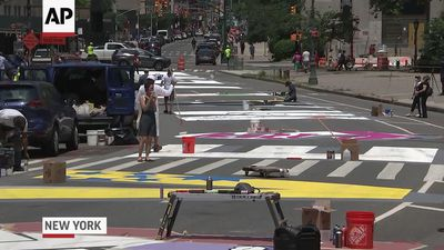 Black Lives Matter mural painted outside NY courts
