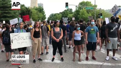 Demo against St. Louis couple who pulled gun