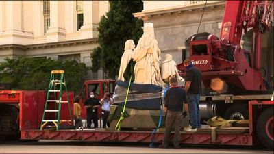 Columbus statue removed from California Capitol