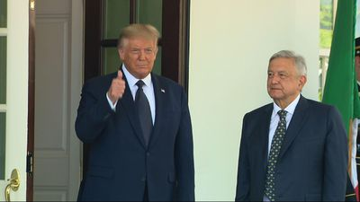 Trump, Lopez Obrador visit about trade, politics