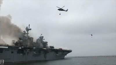 Hundreds still battling Navy Ship fire in Calif.