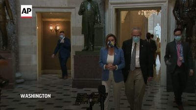 Talks in Capitol to continue over US virus benefit