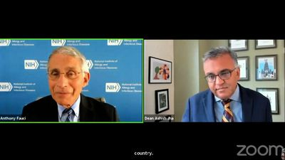 Fauci 'cautious optimist' on virus levels, vaccine