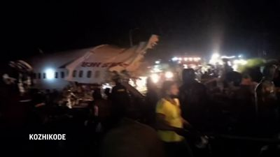 Air India flight skids off runway, 16 killed