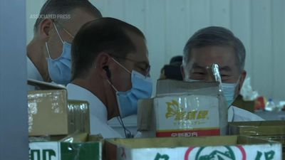 HHS Secretary Azar visits mask factory in Taiwan