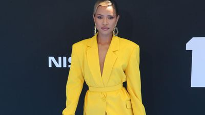 Karrueche Tran loves hot yoga