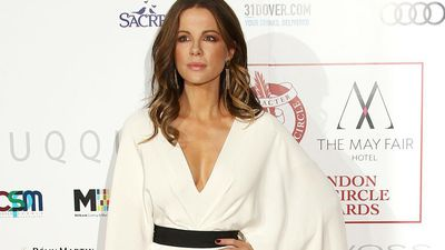 Kate Beckinsale sniffs her daughter's socks