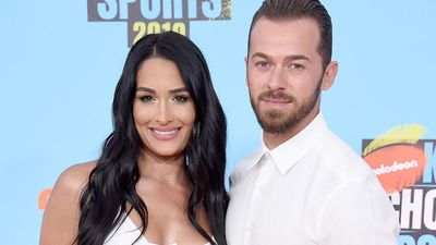 Nikki Bella meets Artem Chigvintsev's parents