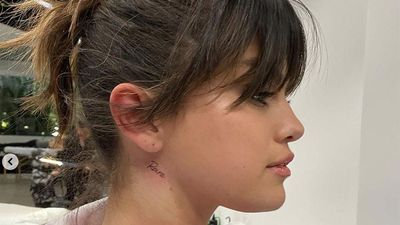 Selena Gomez gets album name tattooed on her neck
