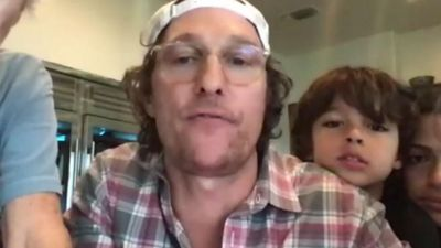 Matthew McConaughey plays virtual bingo with senior living facility residents