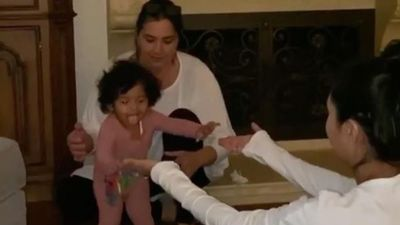 Kobe Bryant's baby daughter Capri takes her first steps