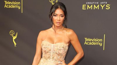 Nicole Scherzinger's colourful lockdown locks