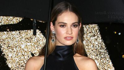 Is Lily James dating Chris Evans?