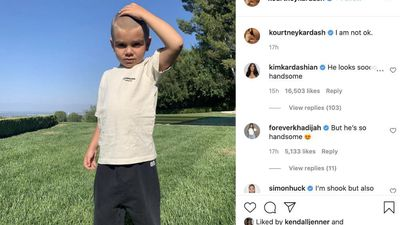Kourtney Kardashian's son Reign has his first ever haircut