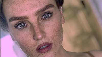 Perrie Edwards is learning to love her freckles