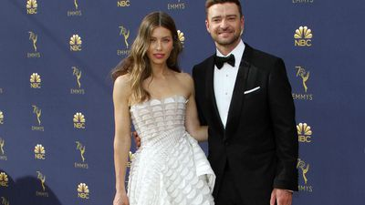 Justin Timberlake and Jessica Biel gush over son at Emmy's