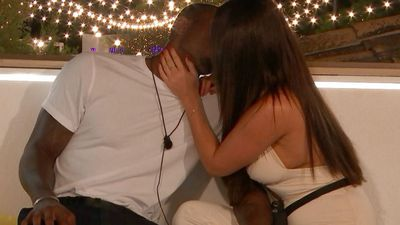 Ovie Soko and India Reynolds' passionate kiss