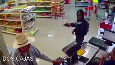 Mexican 'cowboy' stops armed robbery