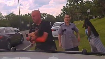 Three-month-old baby saved by US policeman