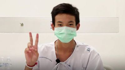 First video messages from rescued Thai boys