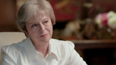Theresa May 'irritated' by question of tenure