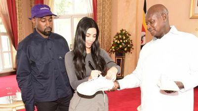 Kanye and Kim's gift to Ugandan president