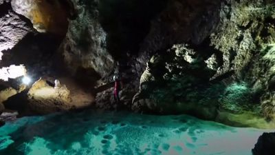 Giant cave hall found down sinkhole