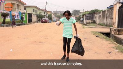 The 11-year-old girl cleaning up Lagos