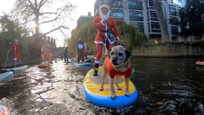 City's Santa SUP raises money for charity
